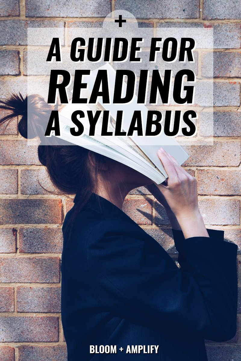 How to read a syllabus    Bloom + Amplify